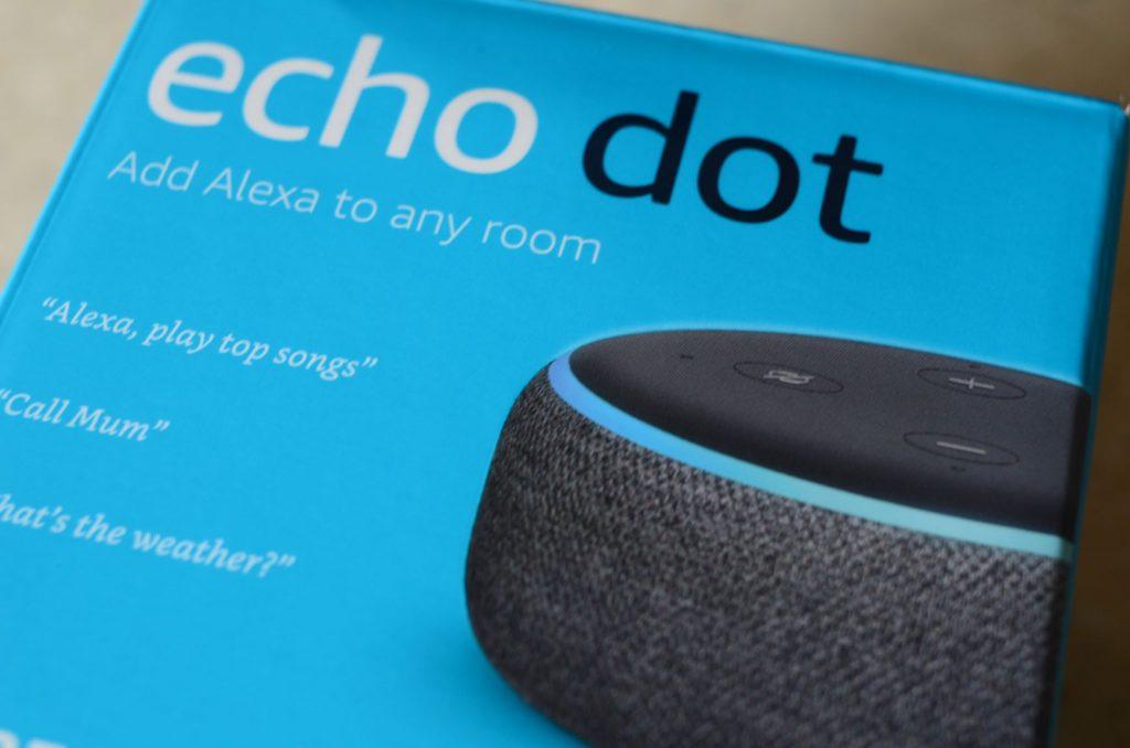 Shows Echo Dot Box