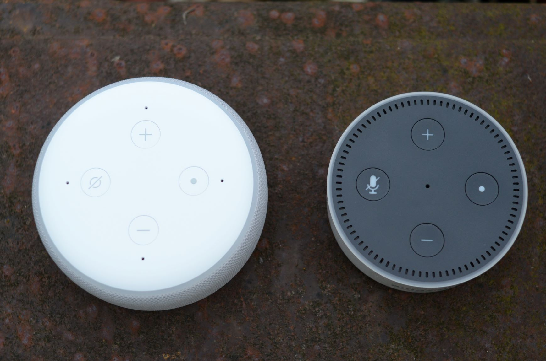 Echo Dot 2nd and 3rd Gen Side by Side