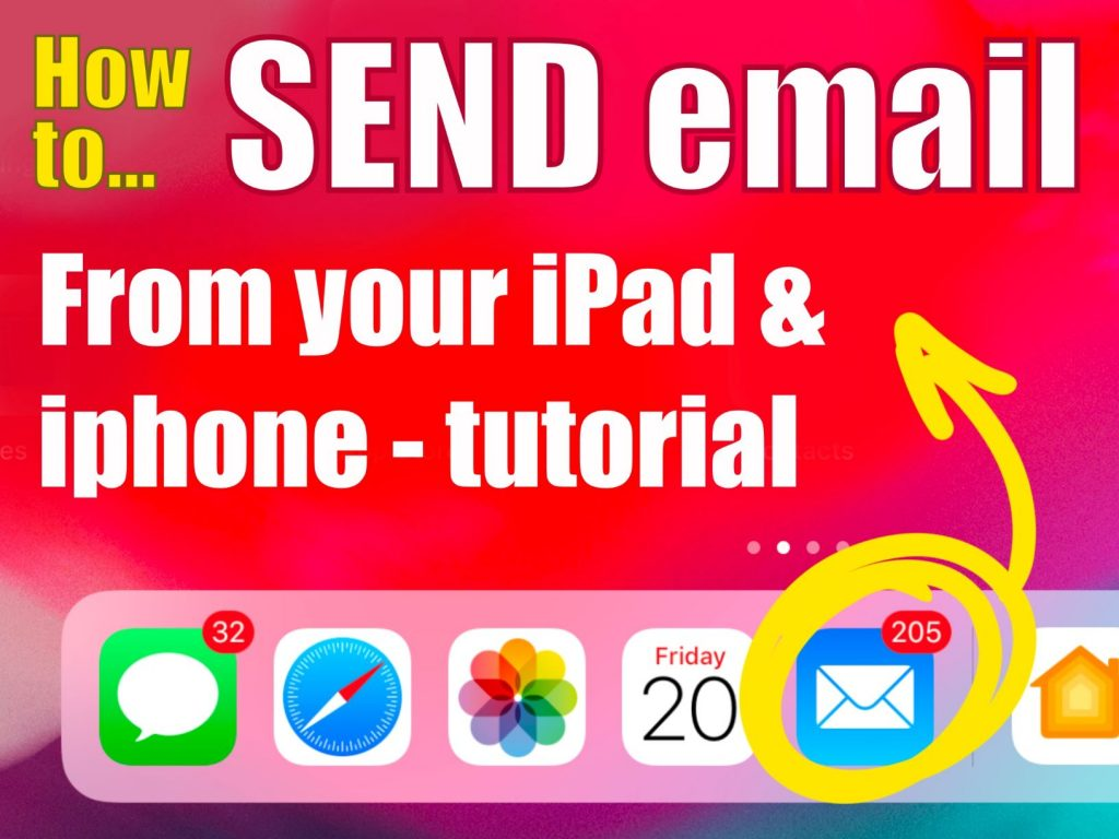 How to send email from iPad and iPhone