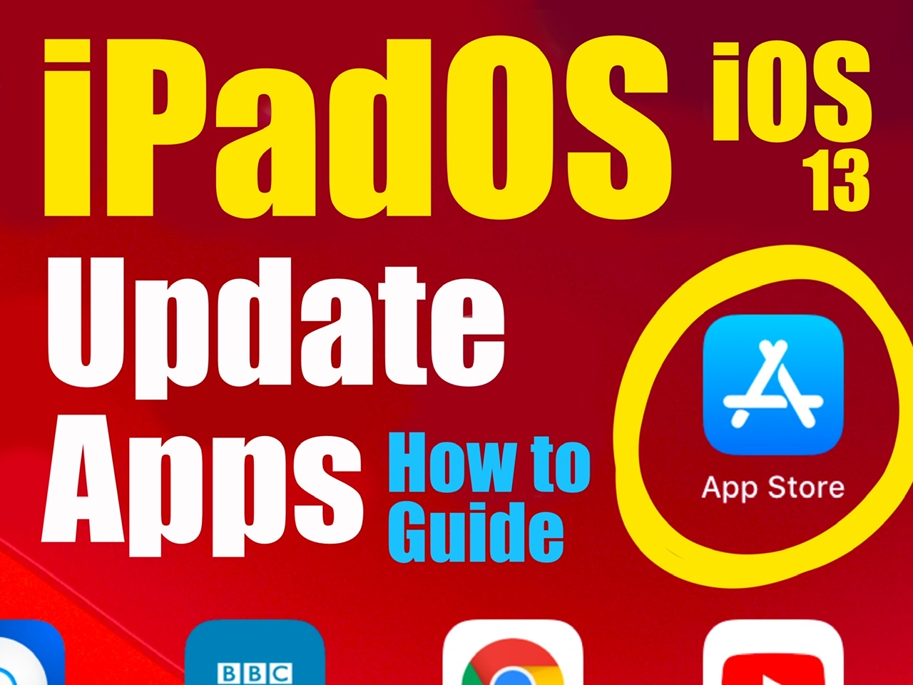 Update Apps in iPadOS and iOS13