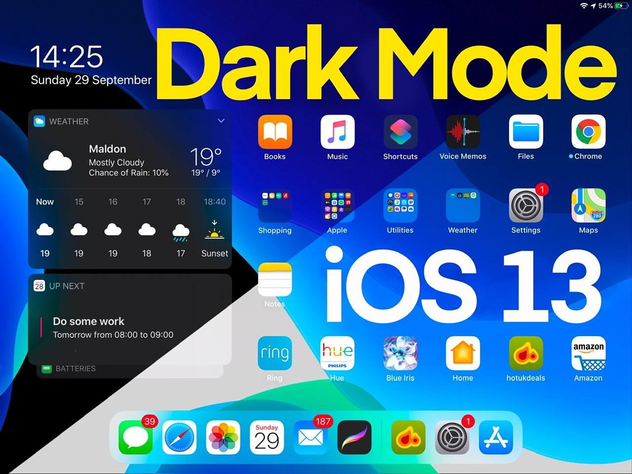 Dark Mode for iPadOS and iOS 13