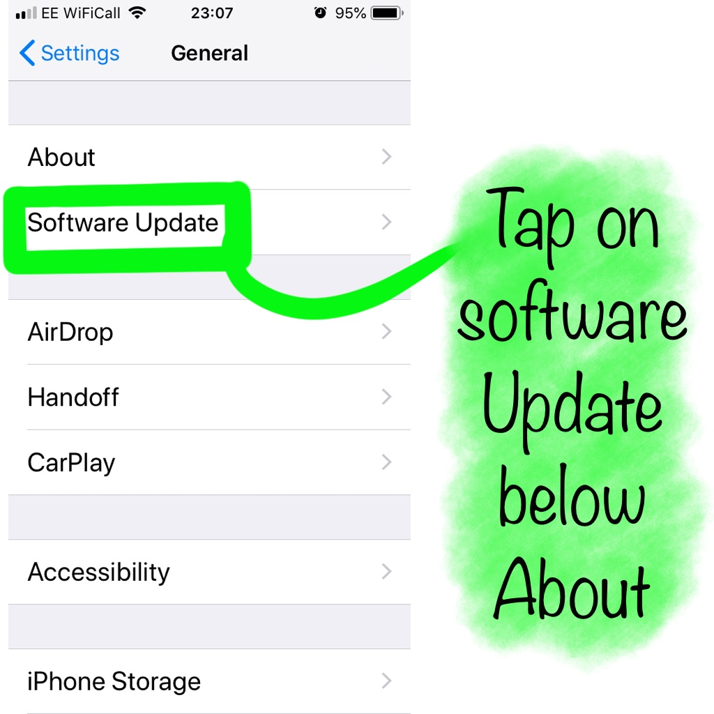 Select software update