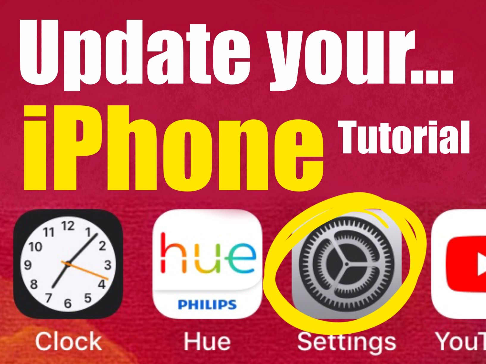 Update your iPhone iOS version